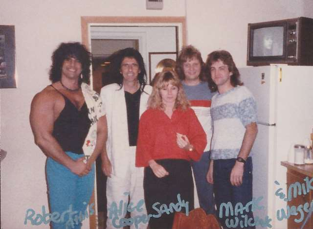 Robert Athis, Alice Cooper, Sandy Lee Casey, Mark Wilzak, and Mike Wagener